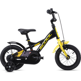 s'cool XXlite steel 12 Niños, black/yellow matt